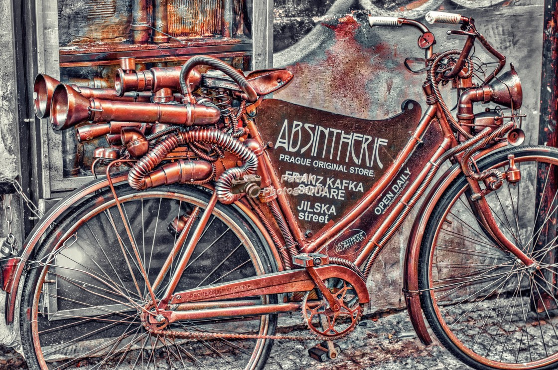 """""""Steam Punk Bicycle"""" stock image"""