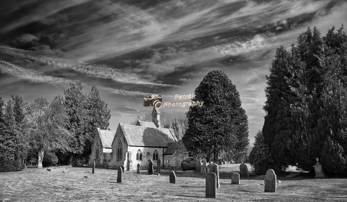 """Skies Over Devizes Cemetary - Devizes, Wiltshire, England"" stock image"