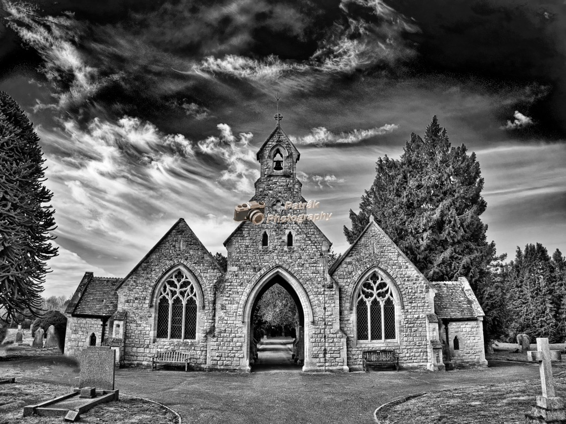 """""""Spooky Cemetary - Devizes, Wiltshire, England"""" stock image"""