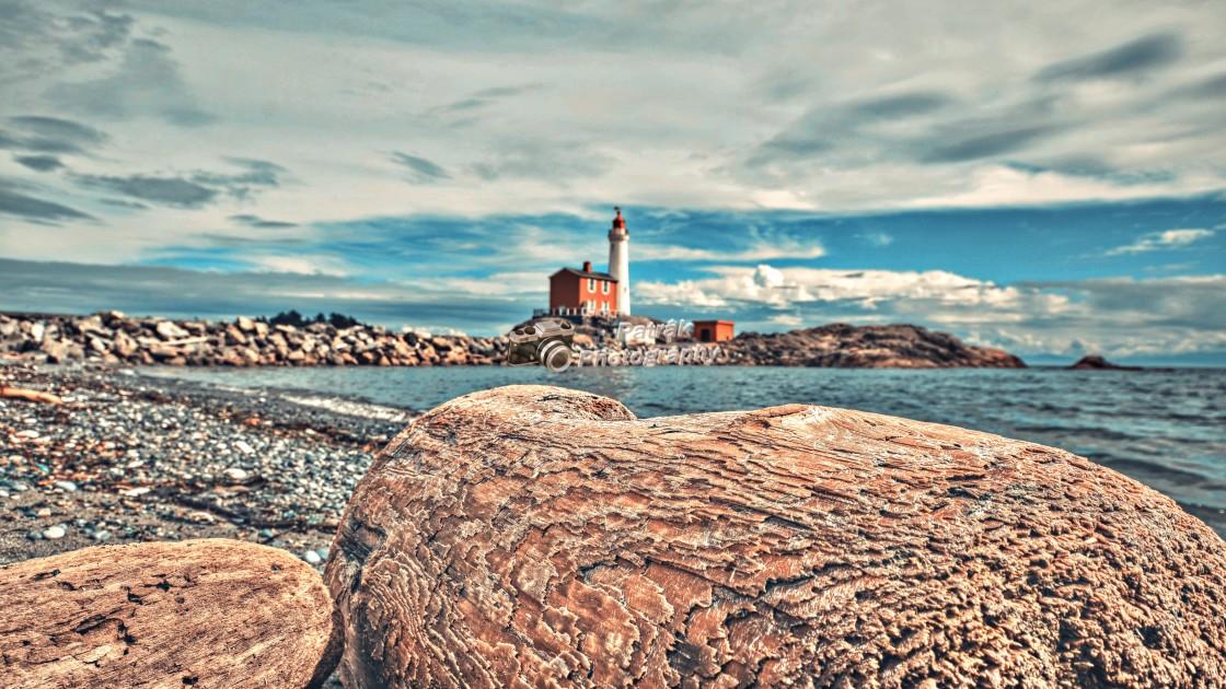 """Fiskard Lighthouse - Colwood, Vancouver Island, BC"" stock image"