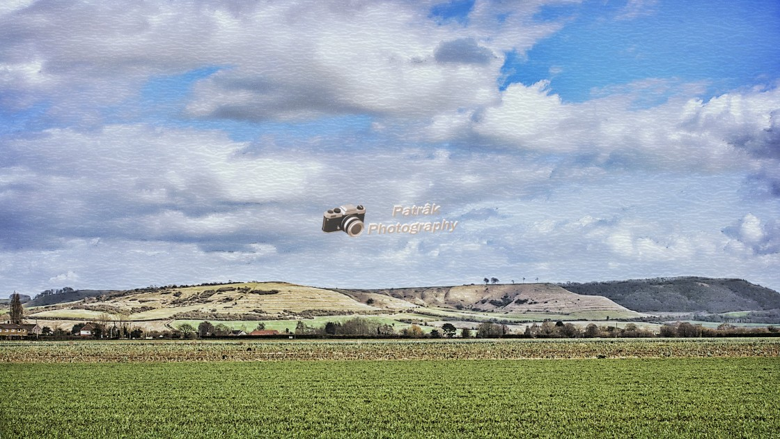 """""""Roundway Down - Bromham, Wiltshire, England"""" stock image"""