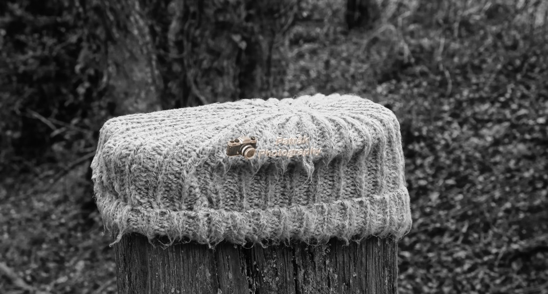 """""""Lost Beanie Hat"""" stock image"""