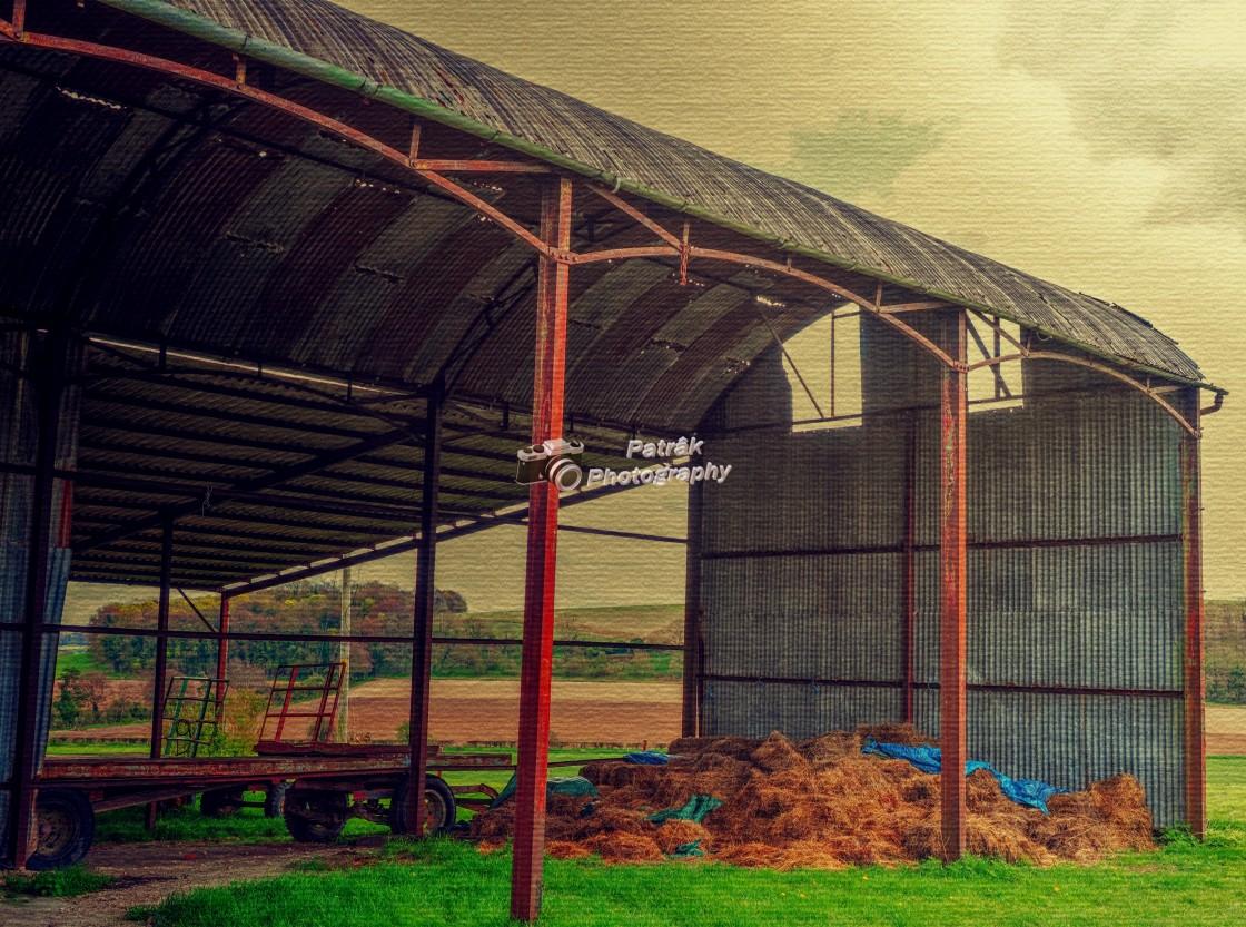 """Farmer's Iron Barn"" stock image"