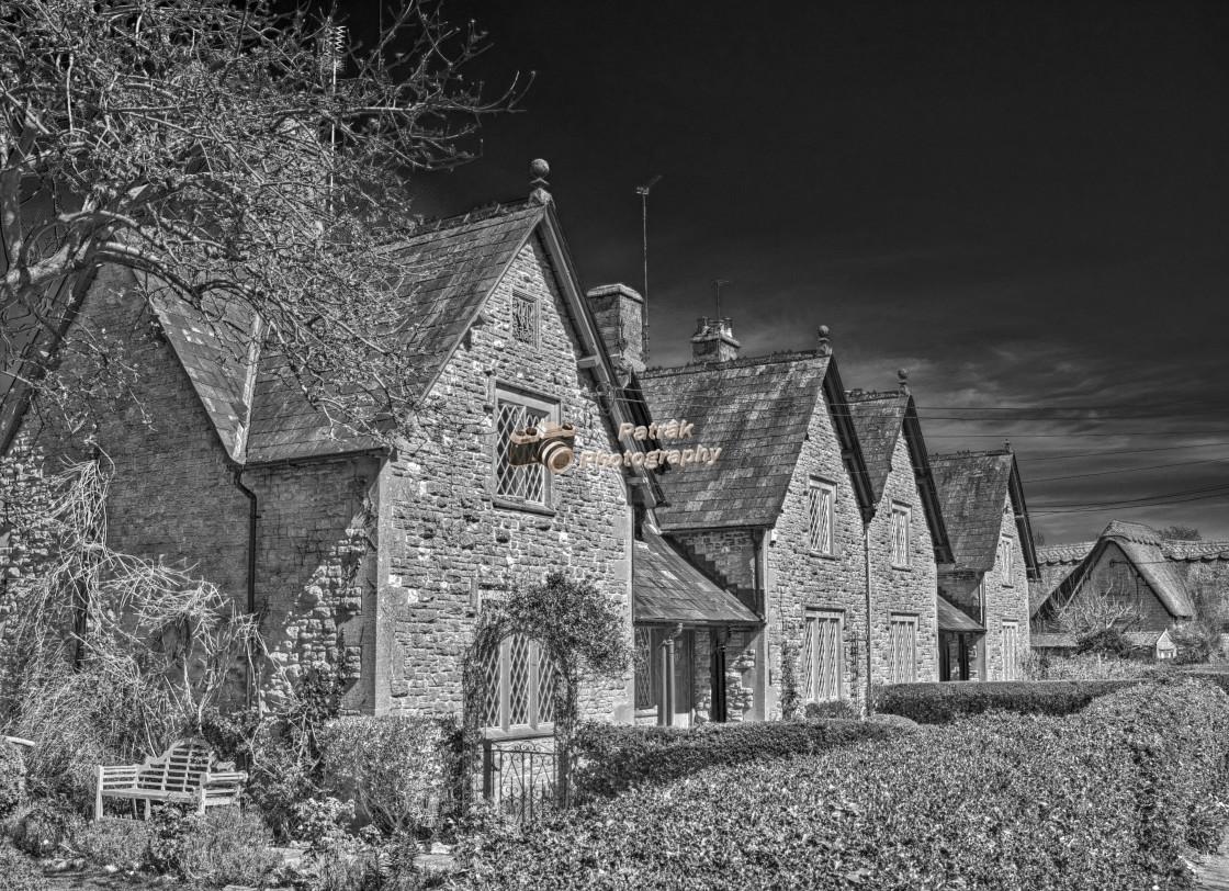 """""""Almshouses - Hilmarton, Wiltshire, England"""" stock image"""