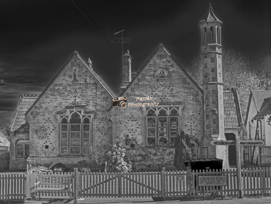 """""""School House - Hilmarton, Wiltshire, England"""" stock image"""