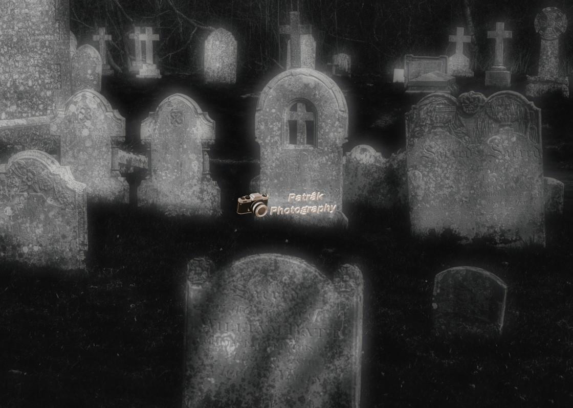 """""""Spooky Gravestones"""" stock image"""
