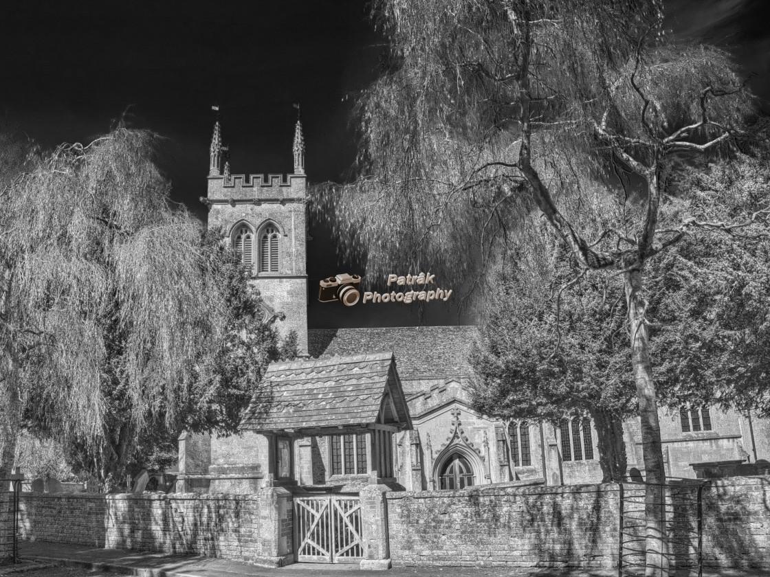 """St Laurence Church - Hilmarton, Wiltshire, England"" stock image"