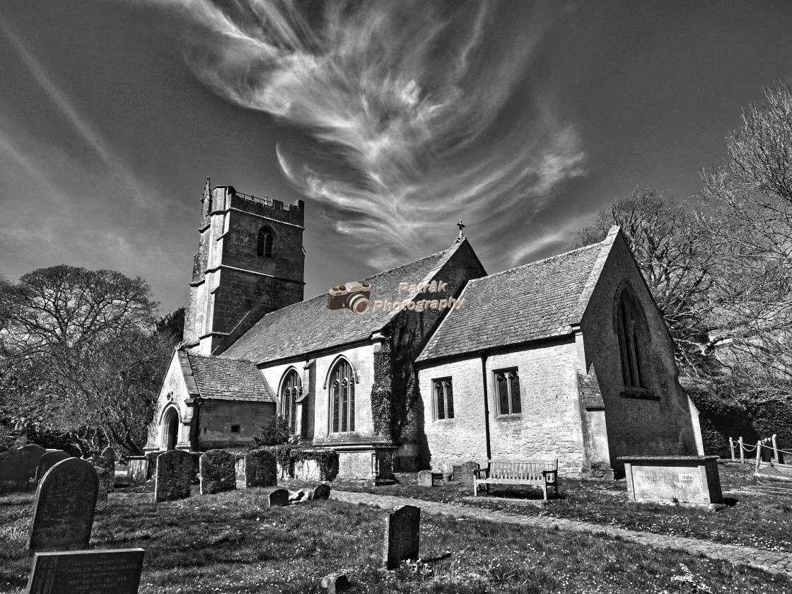 """""""St Peter's Church - Clyffe Pypard, Wiltshire, England"""" stock image"""