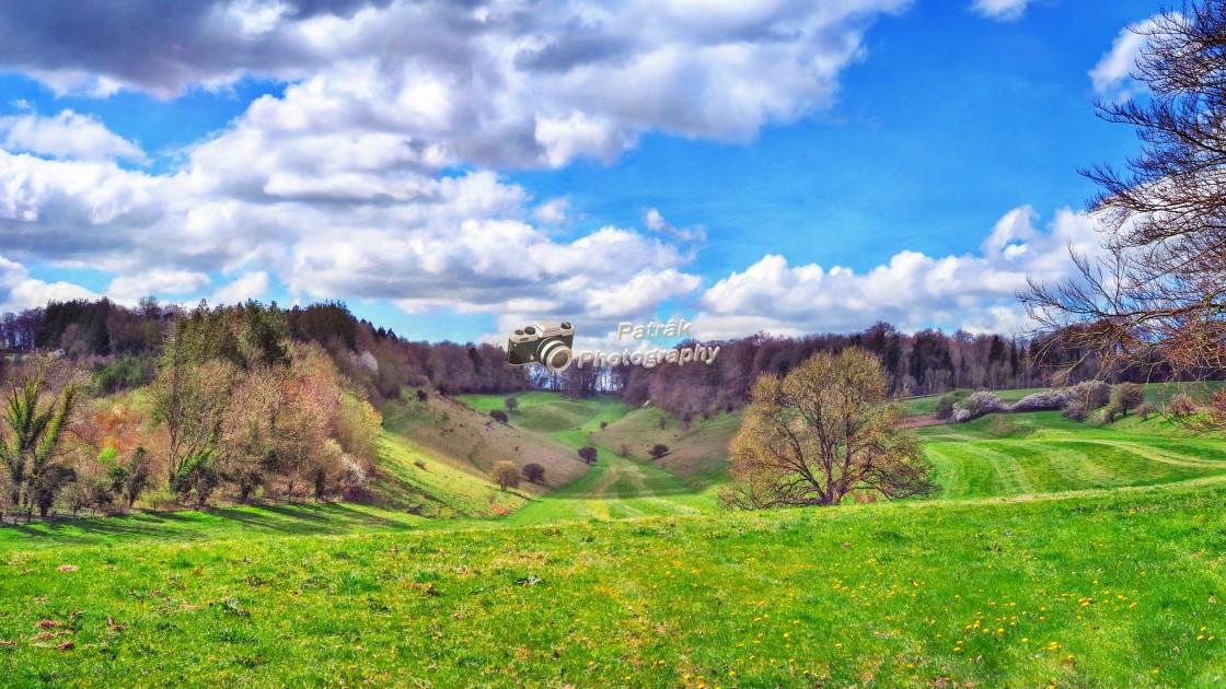 """""""Boyton Valley - Boyton, Wiltshire, England"""" stock image"""