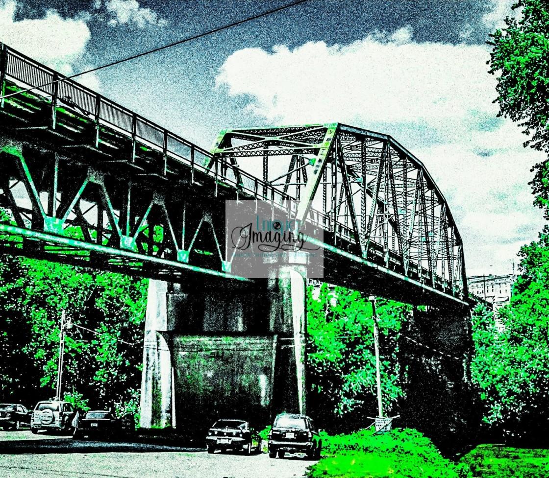 """Irvine Bridge"" stock image"