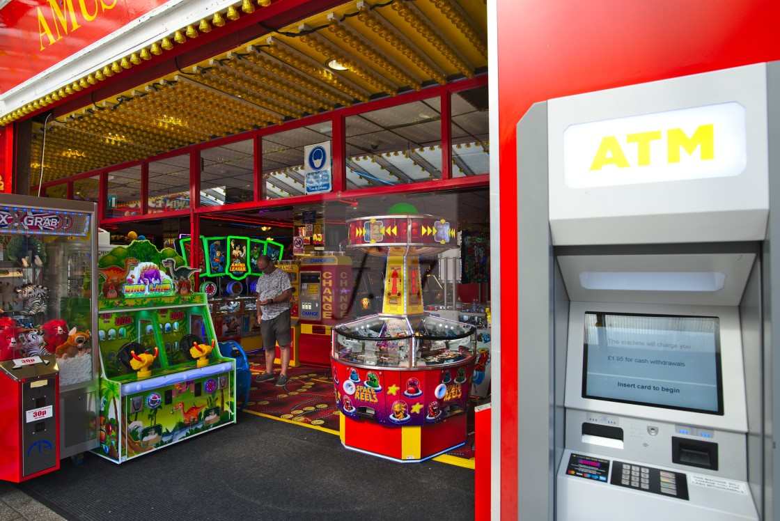 """Seaside amusements arcade"" stock image"