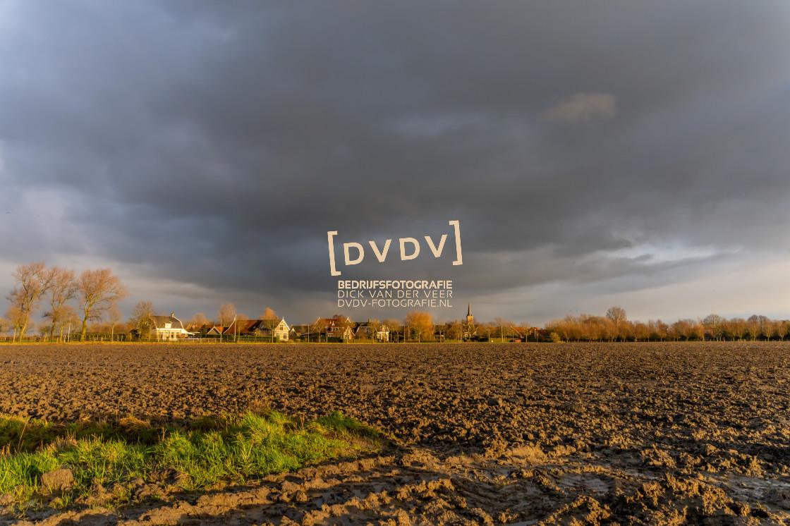 """""""102905 Polder Landschap Schouwen-Duiveland"""" stock image"""
