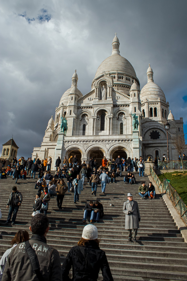 """The Steps of Sacre Coeur"" stock image"