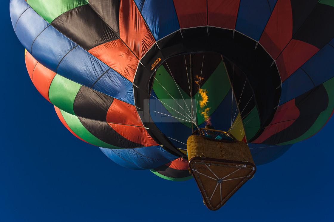 """Hot Air Ballon from Below"" stock image"