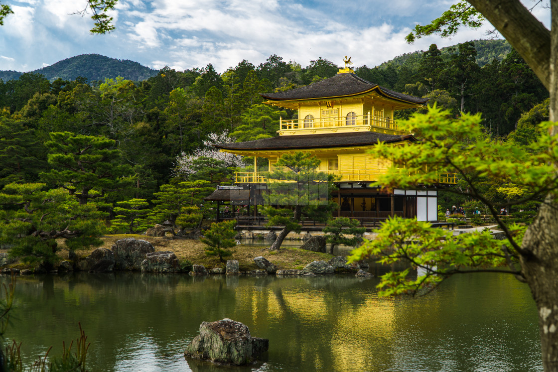 """Golden Pavilion in Kyoto Japan"" stock image"