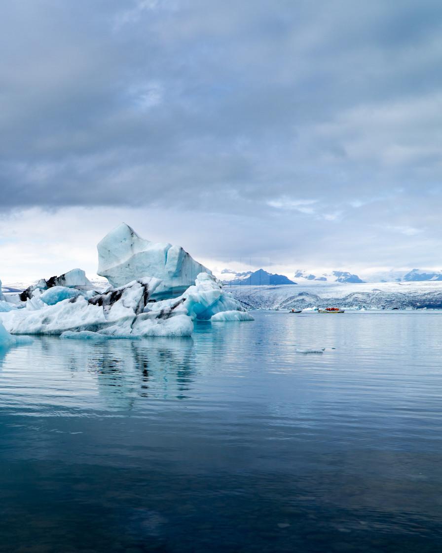 """""""Iceberg Tours in Jökulsárlón Lagoon"""" stock image"""