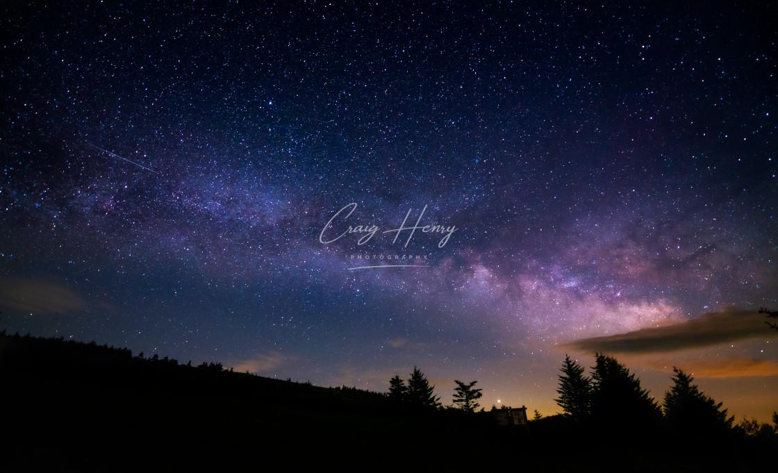 """Milky Way Shooting Star"" stock image"