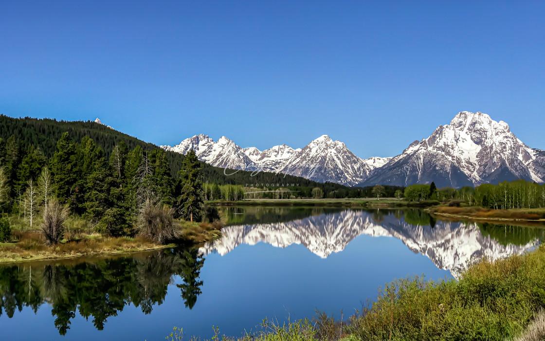 """Grand Teton Reflection"" stock image"