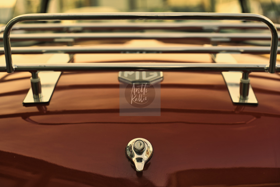 """""""Fine art MG old car from behind"""" stock image"""