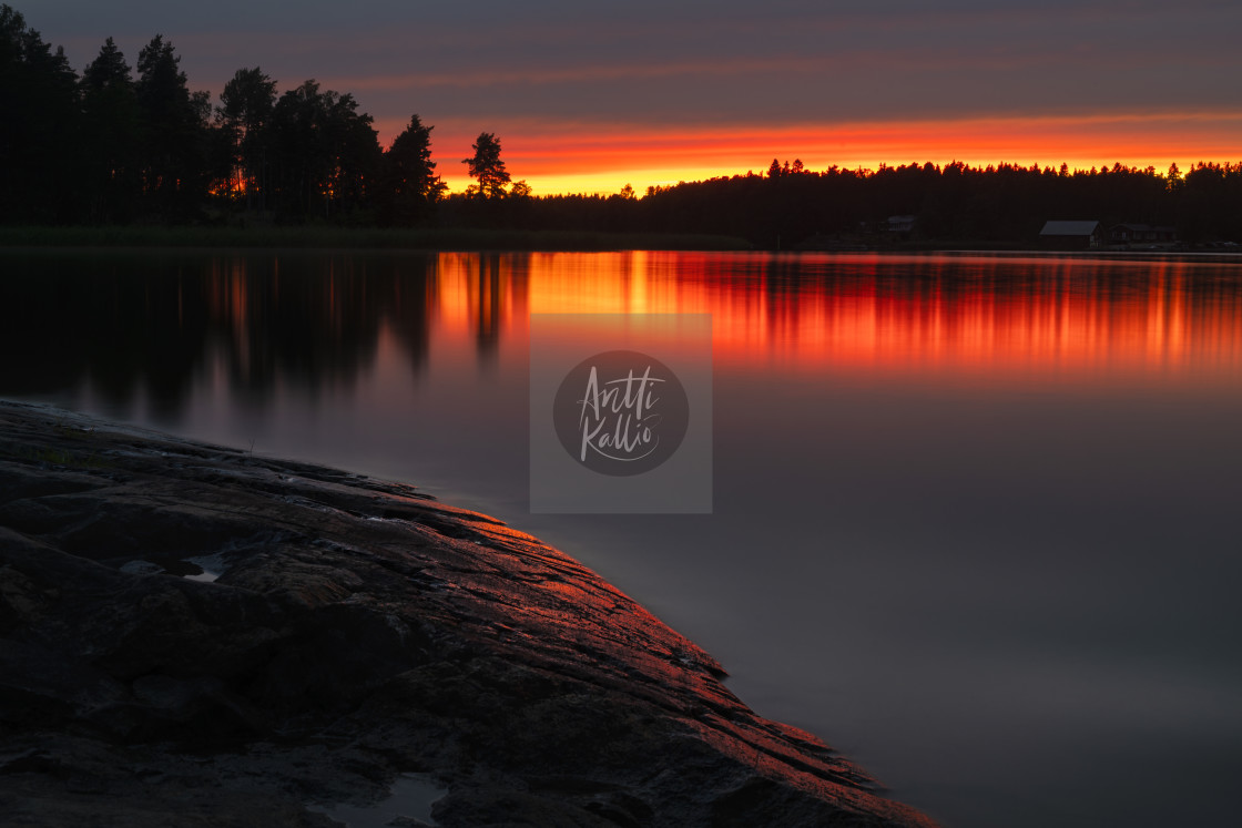 """""""A red sunset"""" stock image"""