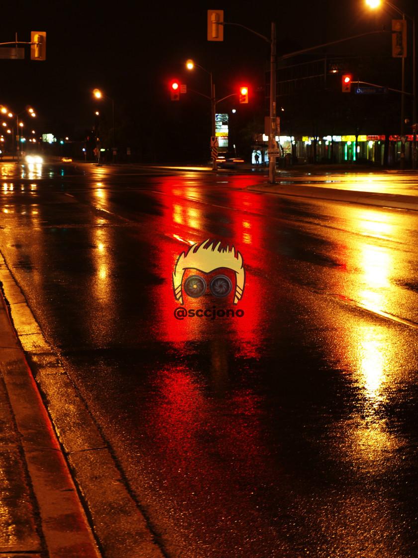 """Rainy Night"" stock image"