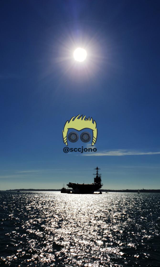 """USS Harry S Truman"" stock image"