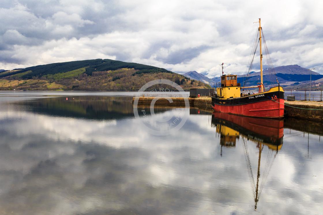 """Inverary and the Vital Spark Scotland"" stock image"