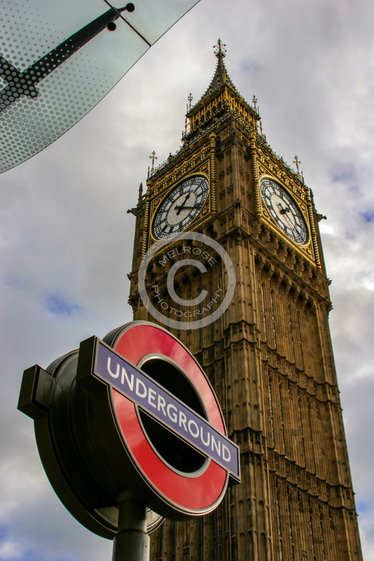 """""""Big Ben view from underground station in London"""" stock image"""