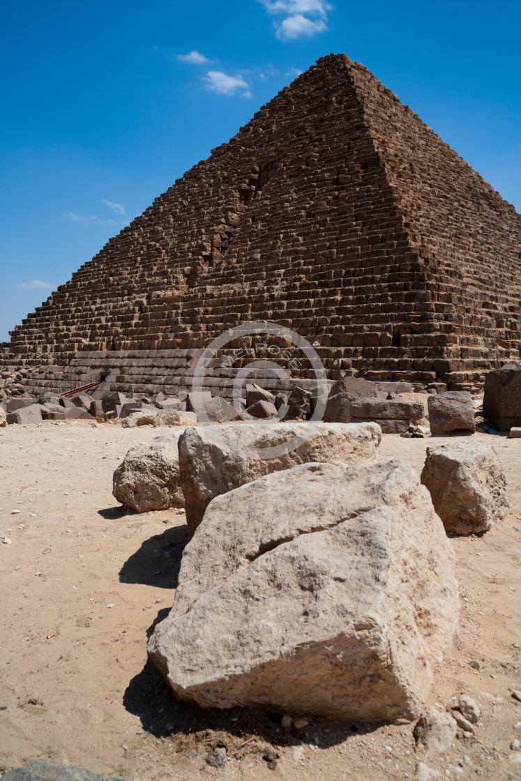 """Great Pyramids of Giza Egypt"" stock image"