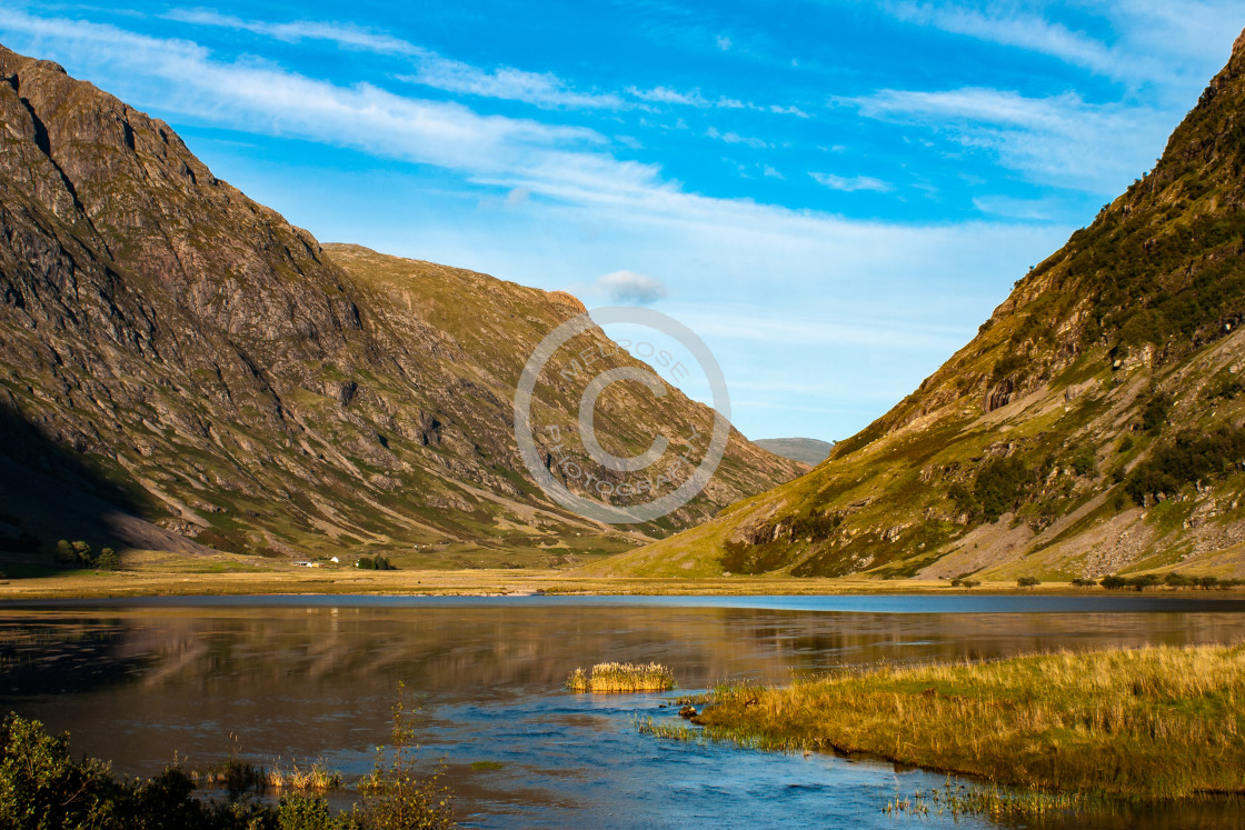"""""""Loch and Mountain view in Glencoe Scotland"""" stock image"""