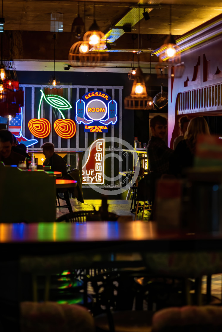 """Colours of the pub"" stock image"