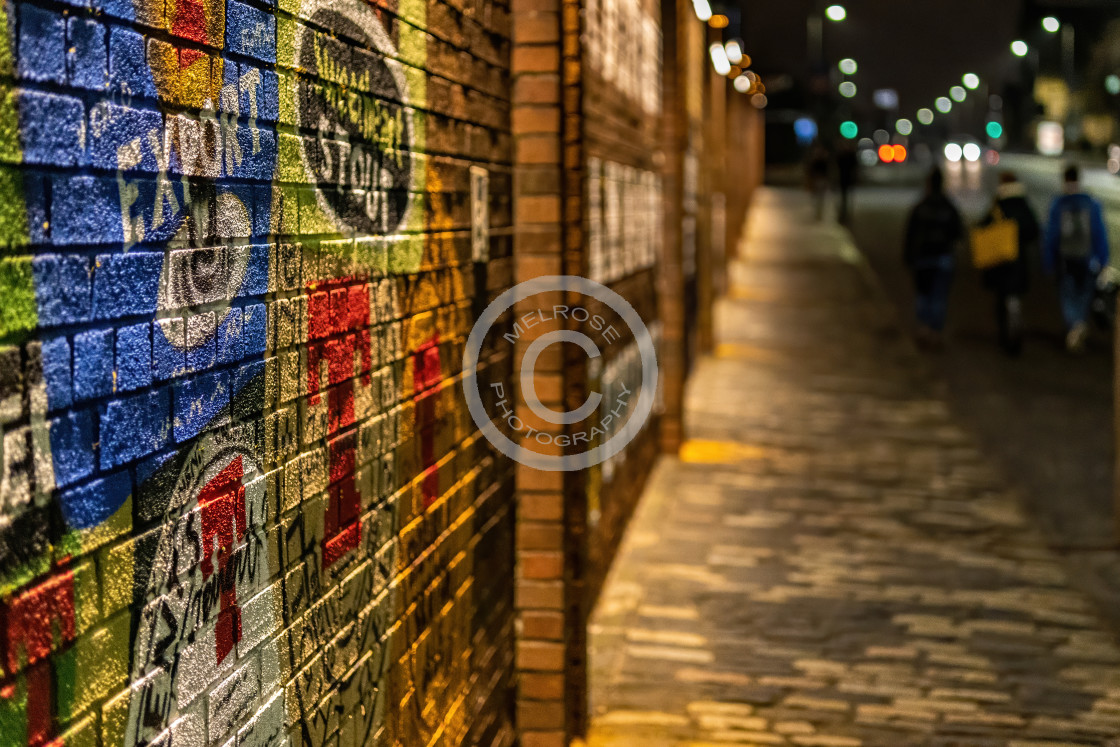 """Wall of Tennets and a Road to Beer"" stock image"