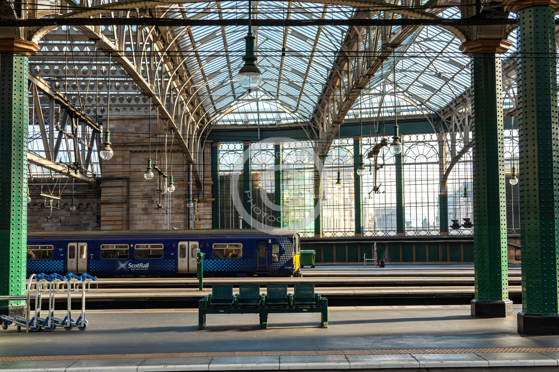 """""""Trains in the Glass House"""" stock image"""