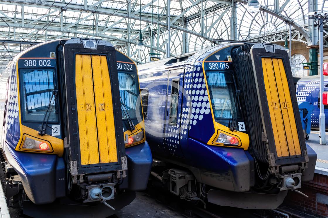 """2 Trains"" stock image"