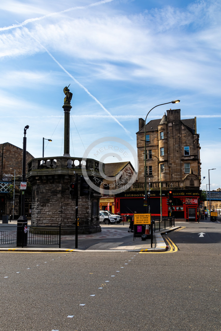 """Glasgow Cross and the Toll Booth"" stock image"