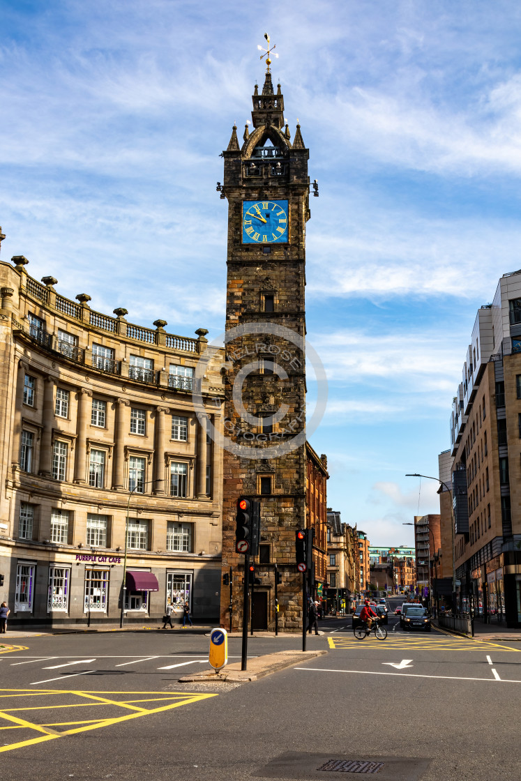"""""""Glasgow Cross and the Clock Tower"""" stock image"""