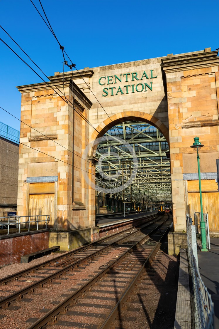 """Glasgow Central Train End"" stock image"