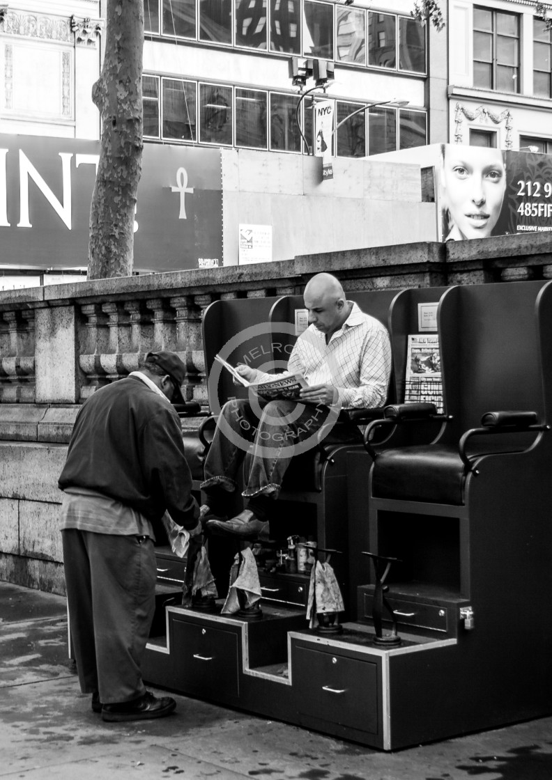 """""""Shoe Shine day in NYC"""" stock image"""