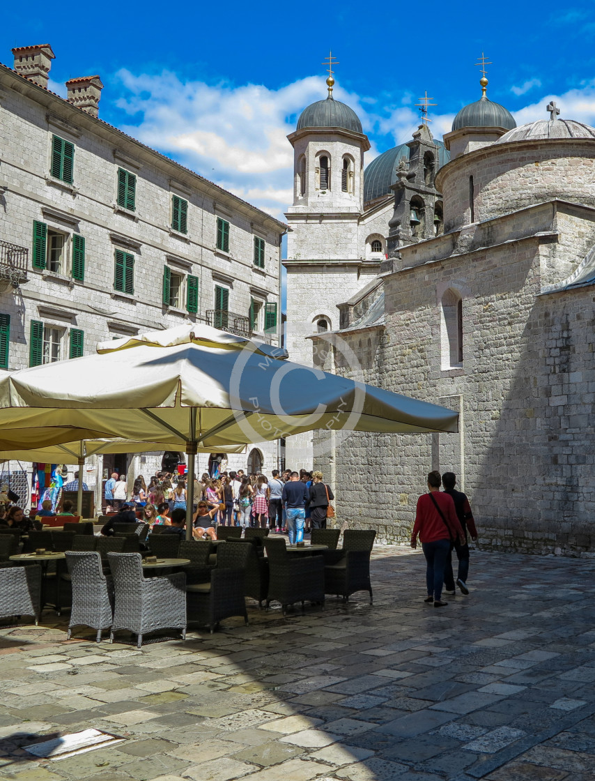 """Eating in Dubrovnik"" stock image"