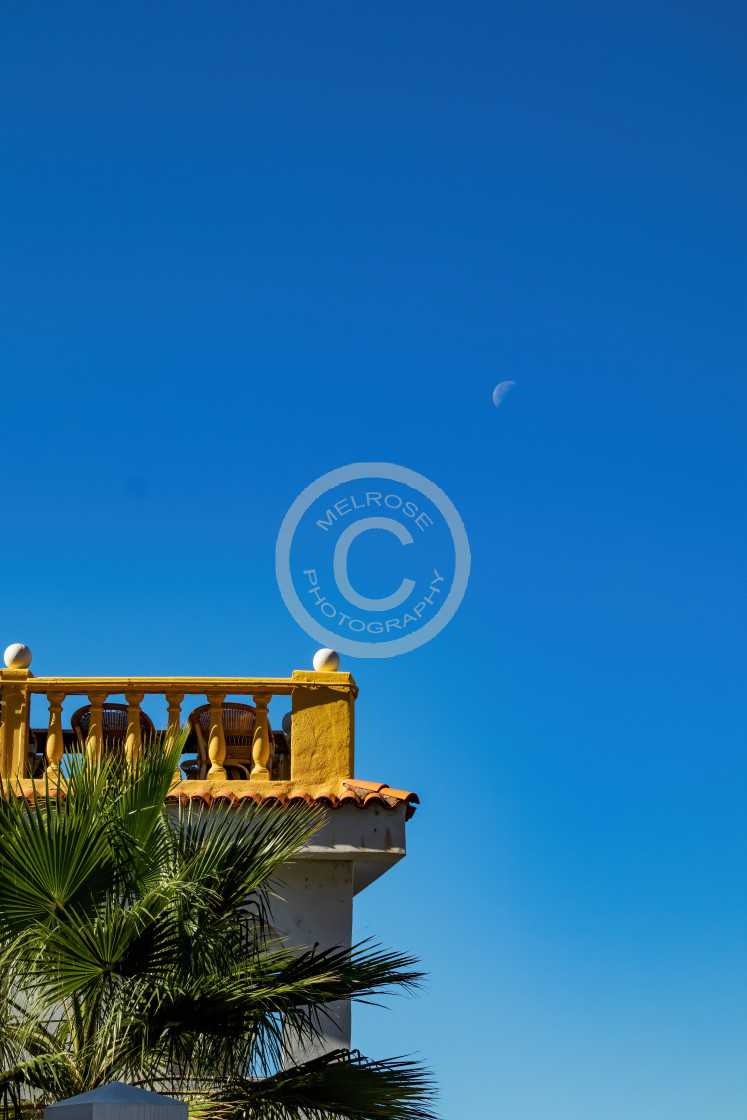 """Golden Balcony in the moon"" stock image"