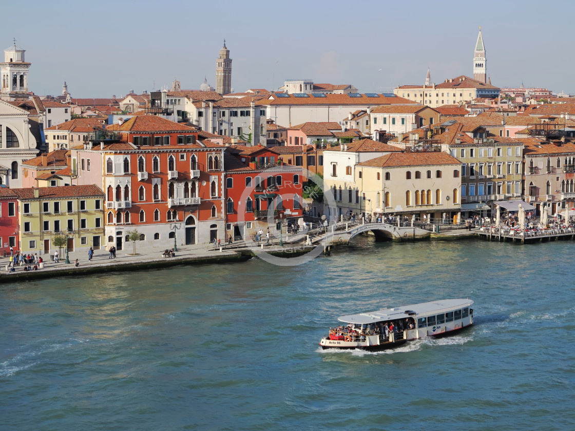 """""""The city of Venice busy water ways"""" stock image"""