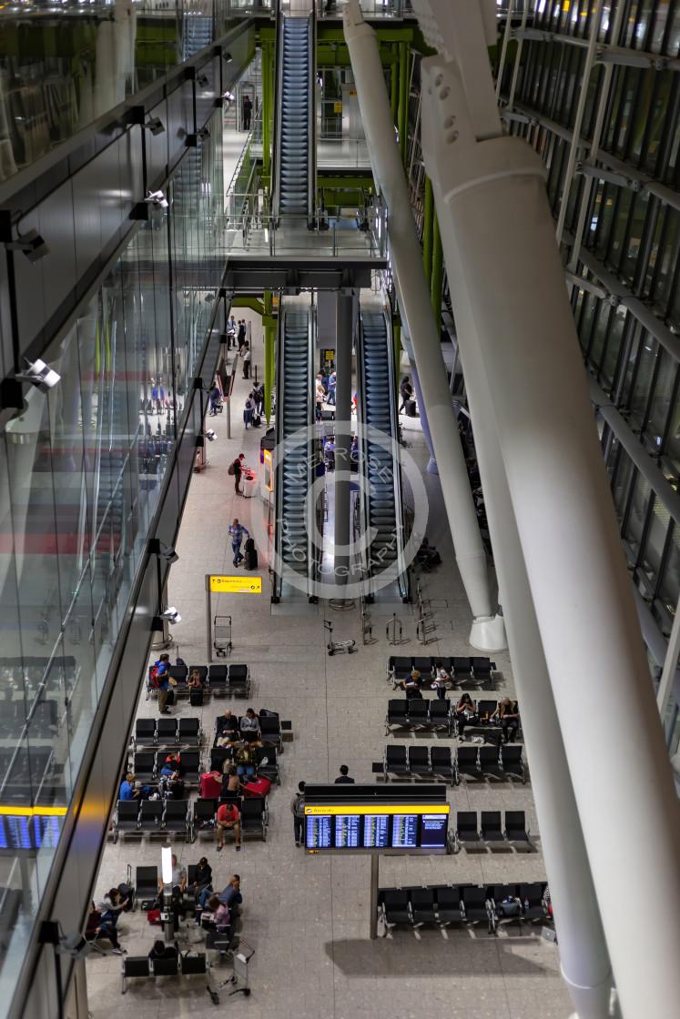 """Heathrow Terminal 5"" stock image"