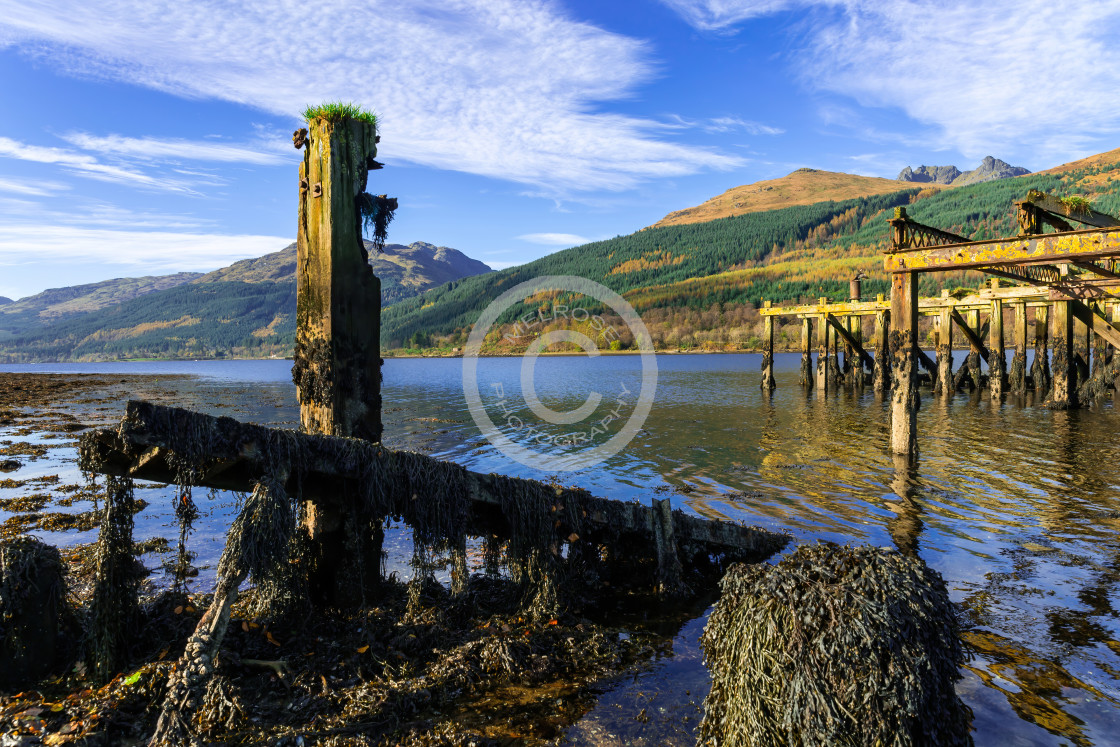"""The old Arrochor Pier"" stock image"