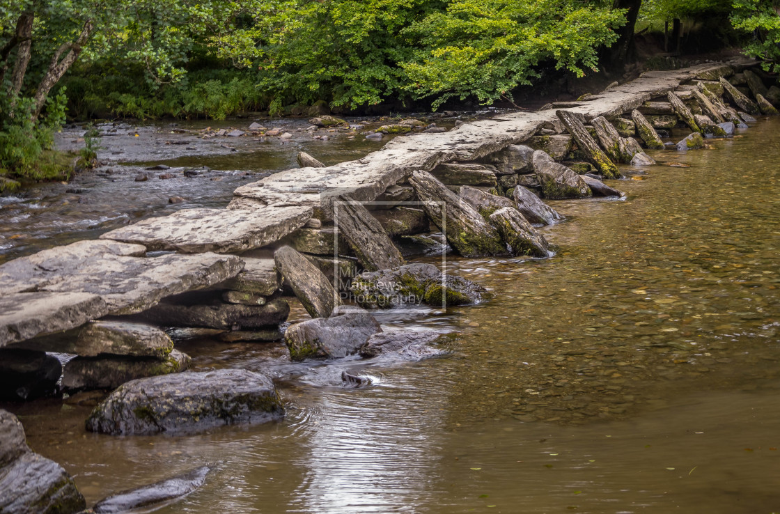 """""""The Tarr Steps"""" stock image"""