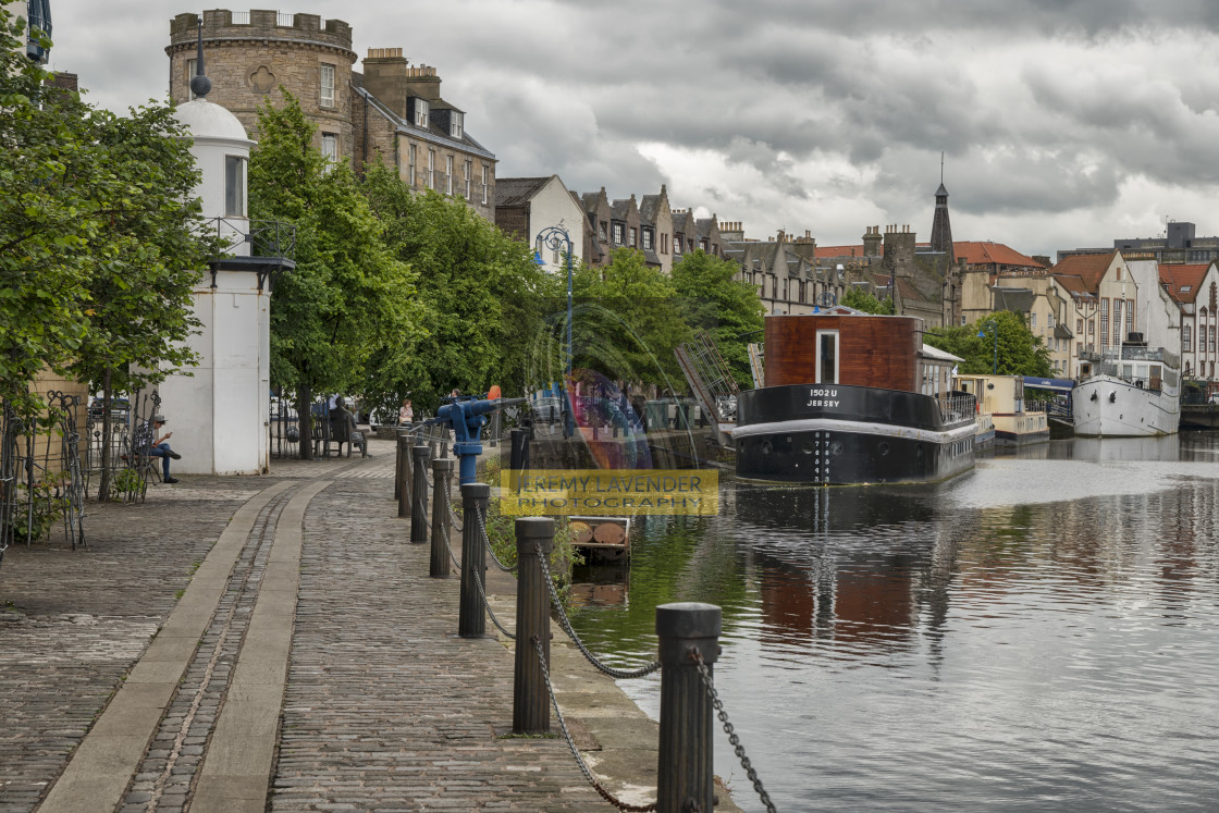"""The Shores in Leith"" stock image"