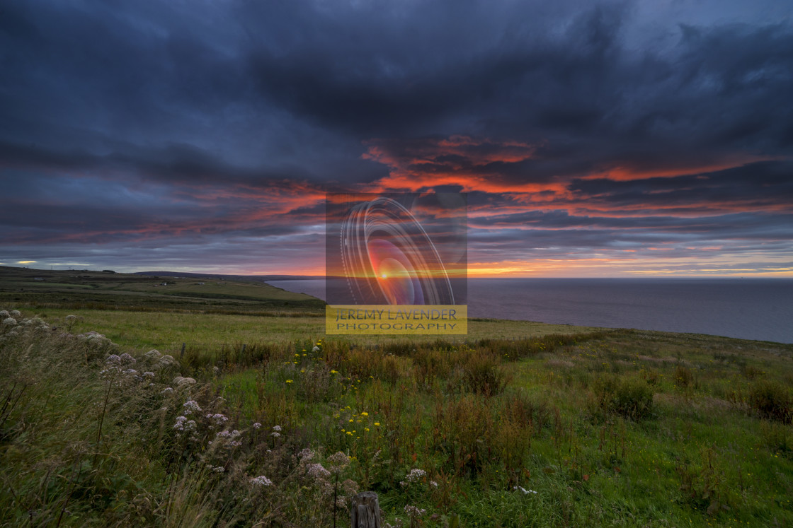 """Sunrise over the Scottish Highlands"" stock image"