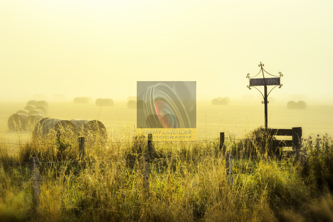 """Early Morning At The Farm"" stock image"