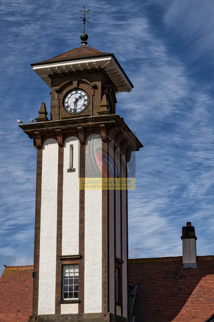 """Wemyss Bay Station Tower"" stock image"