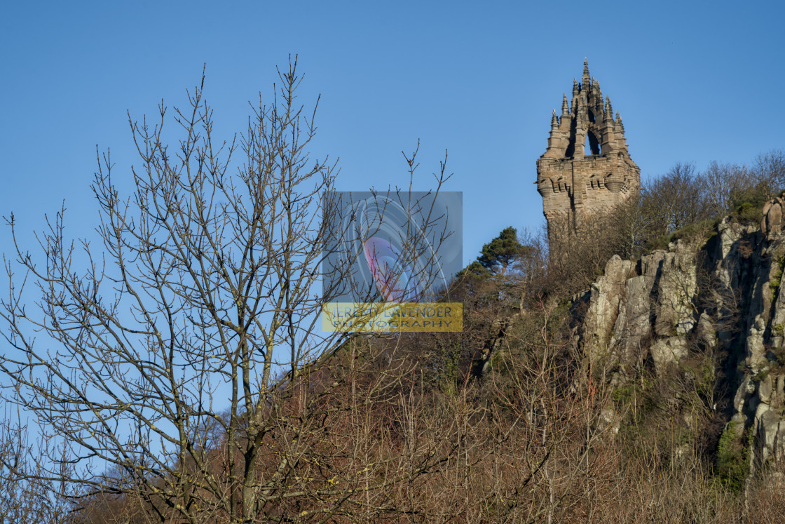 """The National Wallace Monument"" stock image"