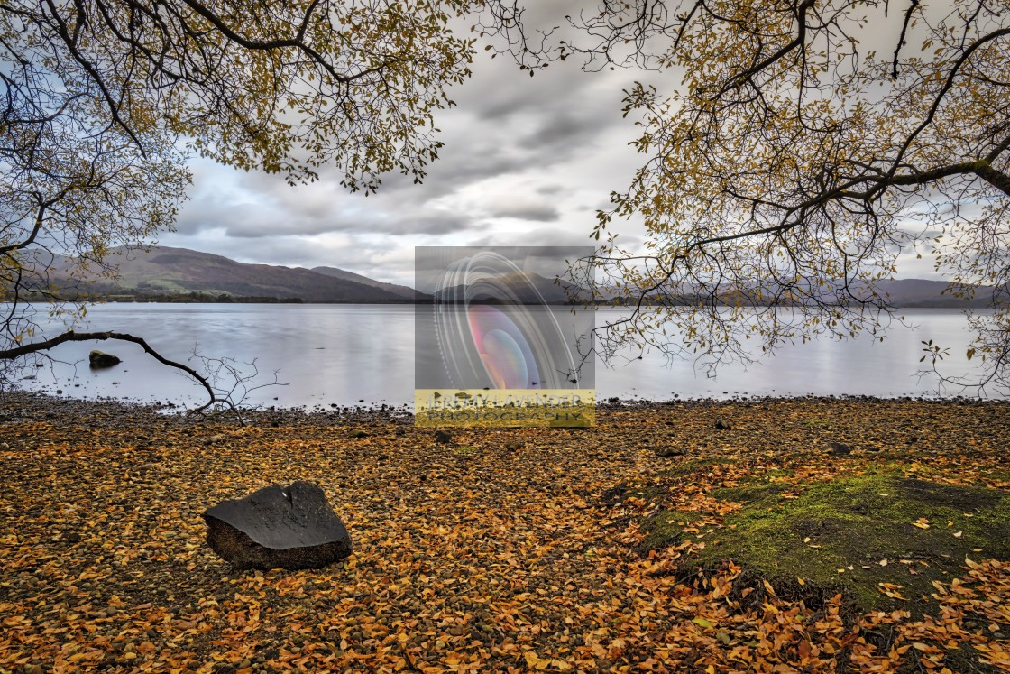 """Autumn scenery at Loch Lomond"" stock image"